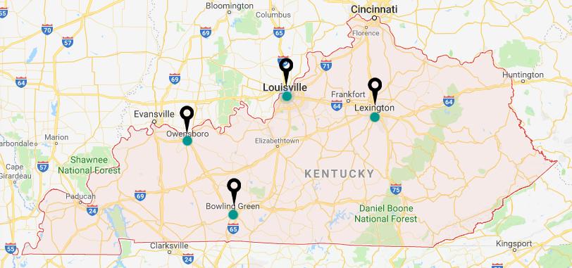 Kentucky Office For Refugees - Kentucky Map